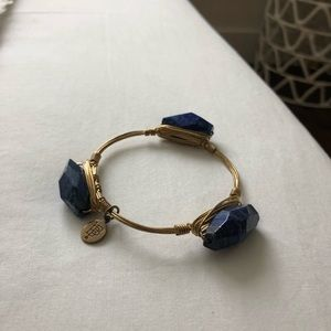 Bourbon and Bowtie Blue Gemstone Bangle